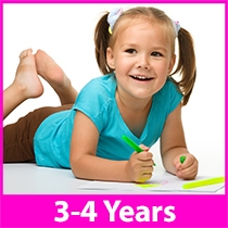 a young girl coloring in a coloring book